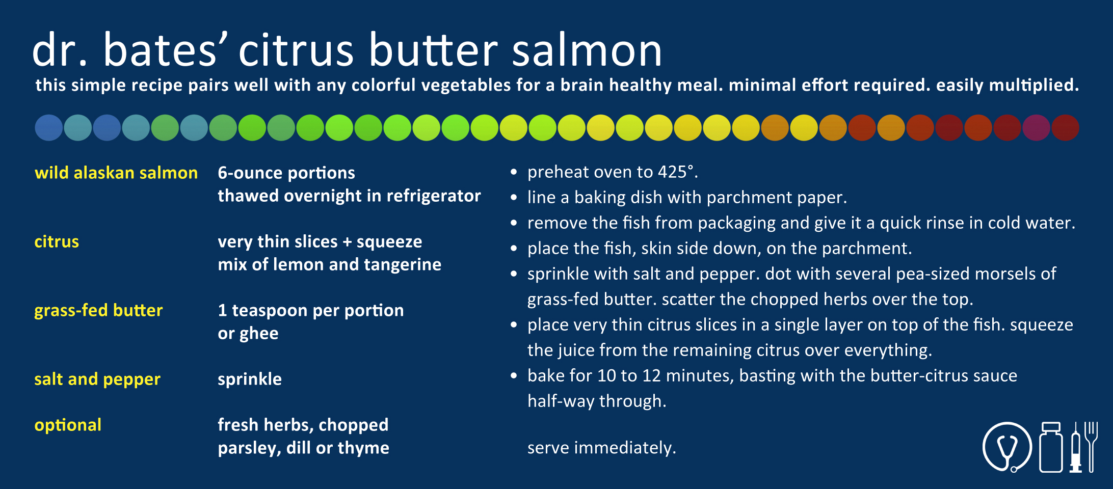 Dr. Deneb Bates' Citrus Butter Salmon Recipe